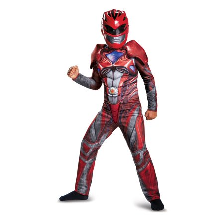 Boys Red Power Ranger Movie Muscle Costume