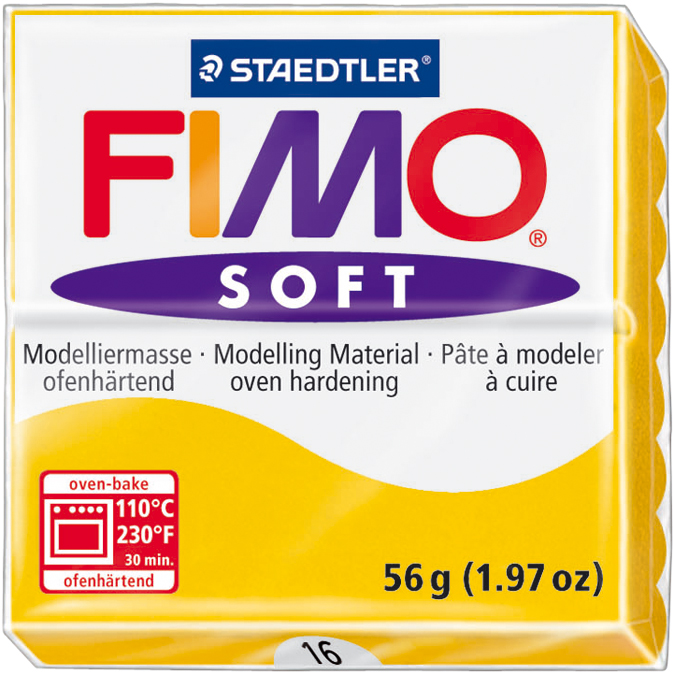 Fimo Soft Polymer Clay 2oz-Sunflower