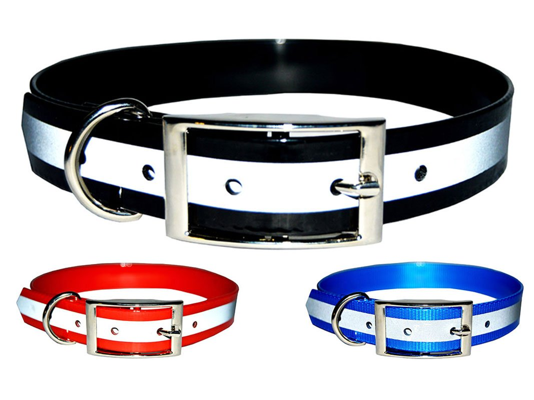 New Reflective Dark Dog Collar, Strong TPU Safety Collar, Suitable for Dogs or Cats, By Downtown Pet Supply by Downtown Pet Supply