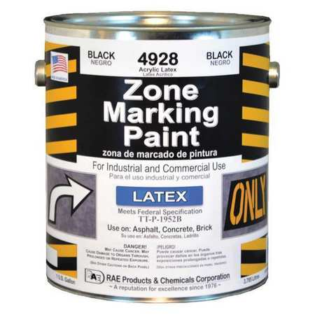RAE Traffic Zone Marking Paint,3.78L,Black 4928-01