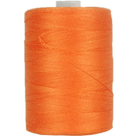 Threadart Cotton Sewing Thread - 1000m Spools - 50/3 - Orang - 50 Colors (Thread Very Light)