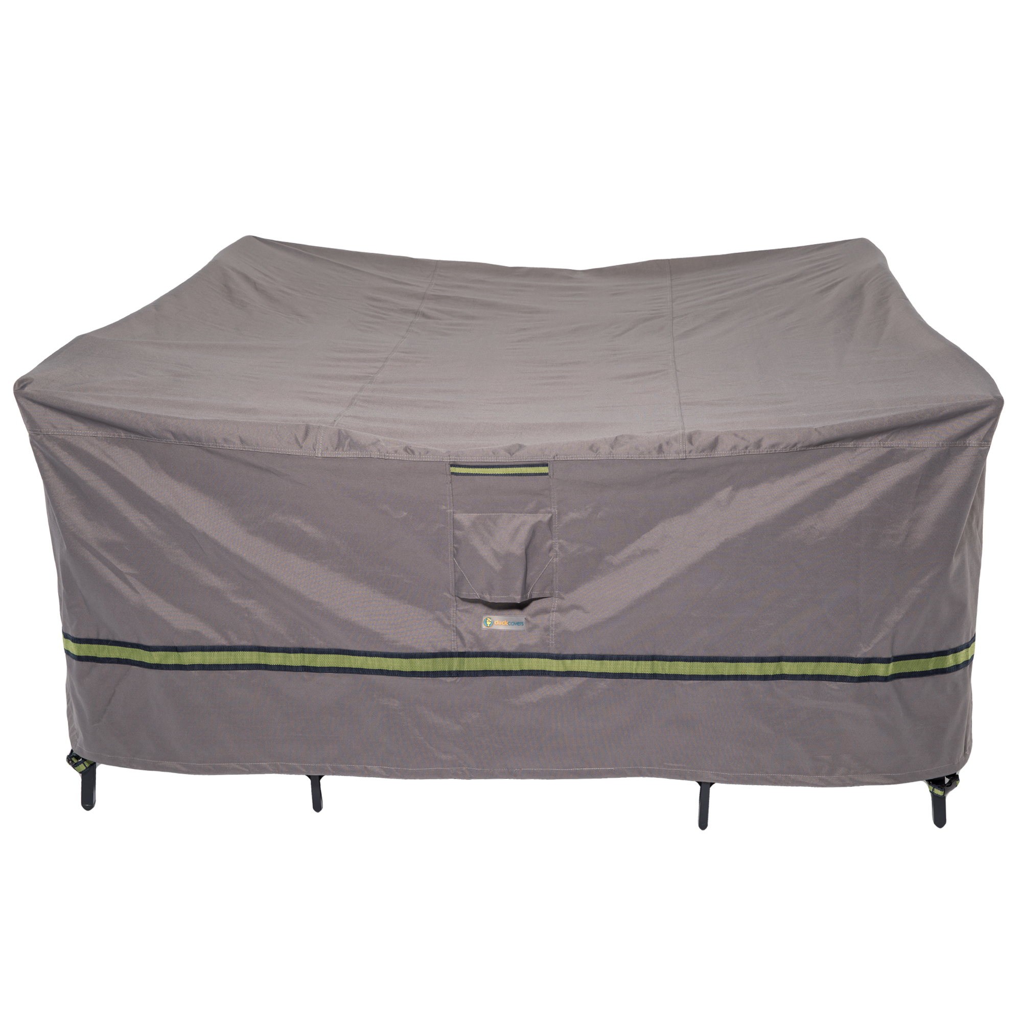 Duck Covers Soteria RainProof 76 in. L Square Patio Table with Chairs Cover