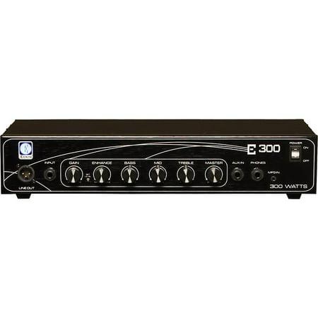 Eden E300 300W Bass Amp Head Black Eden Bass Amp Cabinet