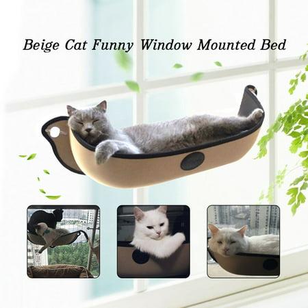 Sloping Shelves - Support up to 26kg Pet Cat House Kitten Window-Mounted Hanging Shelf Cat Perch Seat Warm Sleeping Window Hanging Hammock