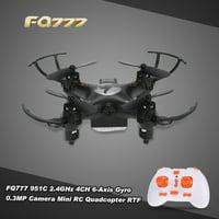 Original FQ777 951C 2.4GHz 4CH 6-Axis Gyro 0.3MP Camera Mini RC Quadcopter RTF with Headless Mode 3D-flip