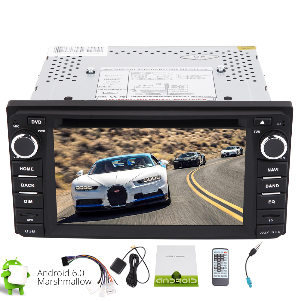 Android 6.0 Stereo System in Dash Double 2din GPS Car DVD Player with Quad-core GPS Navigation Bluetooth Car... by EinCar