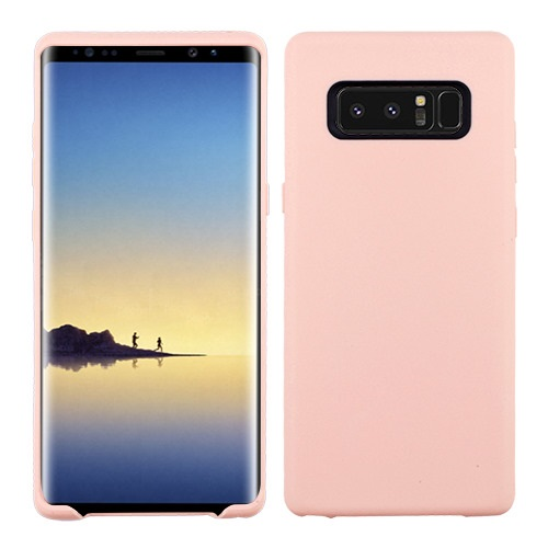 Valor Rubber Matte Candy Skin Case Cover For Samsung Galaxy Note 8 - Rose Gold