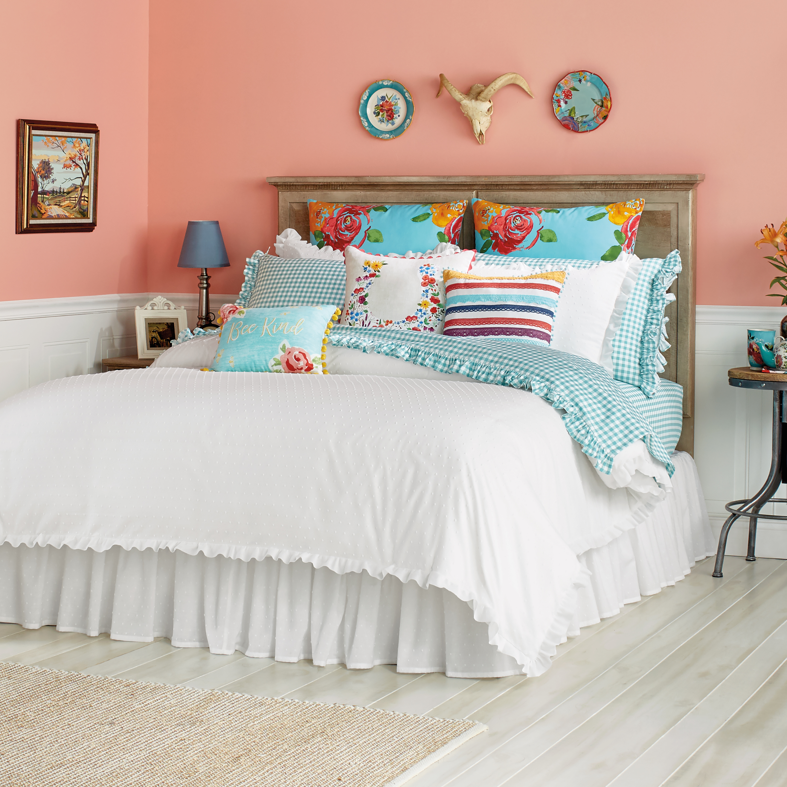 The Pioneer Woman Breezy Dot Comforter and Sham Set