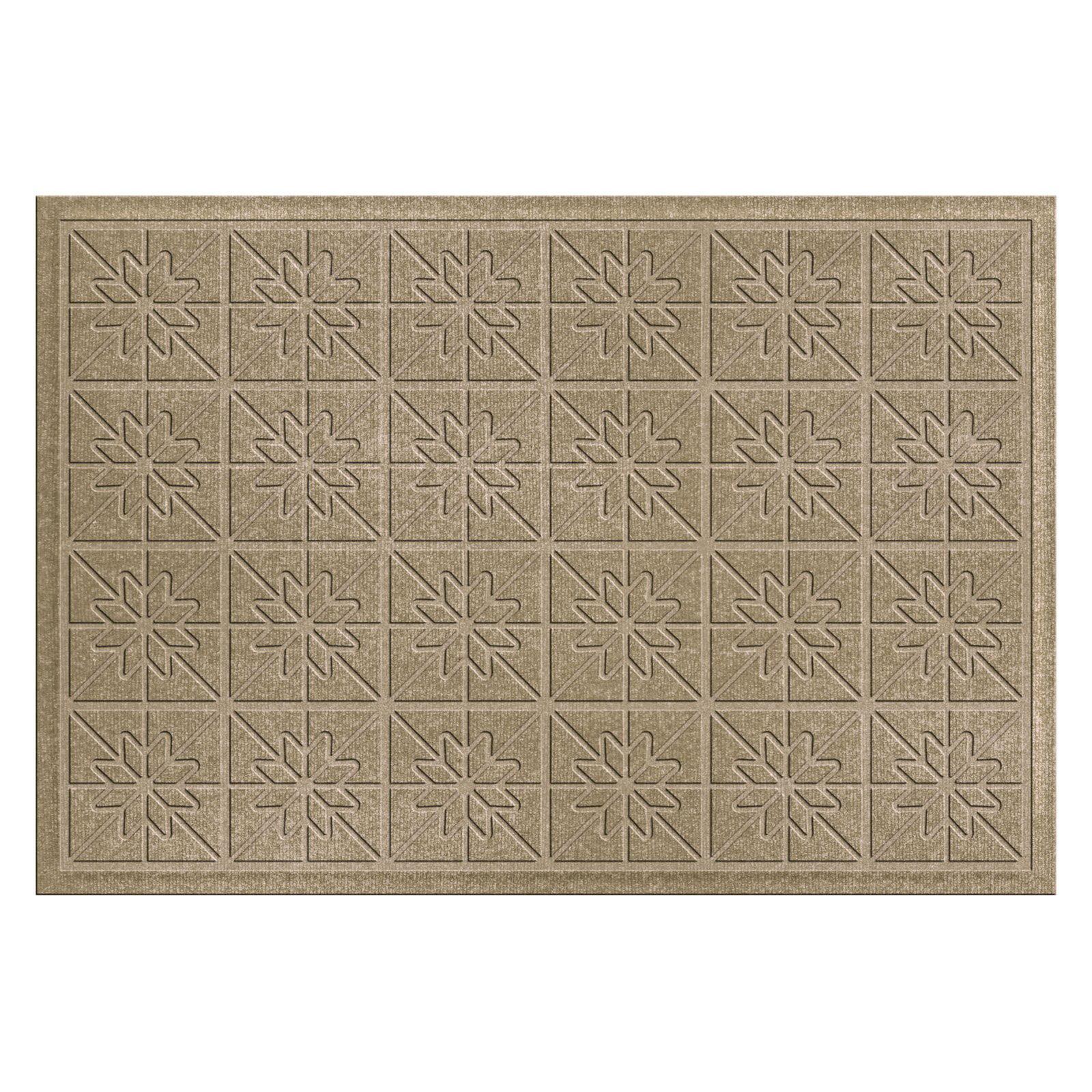 Bungalow Flooring Water Guard Star Quilt Indoor   Outdoor Doormat by Bungalow Flooring