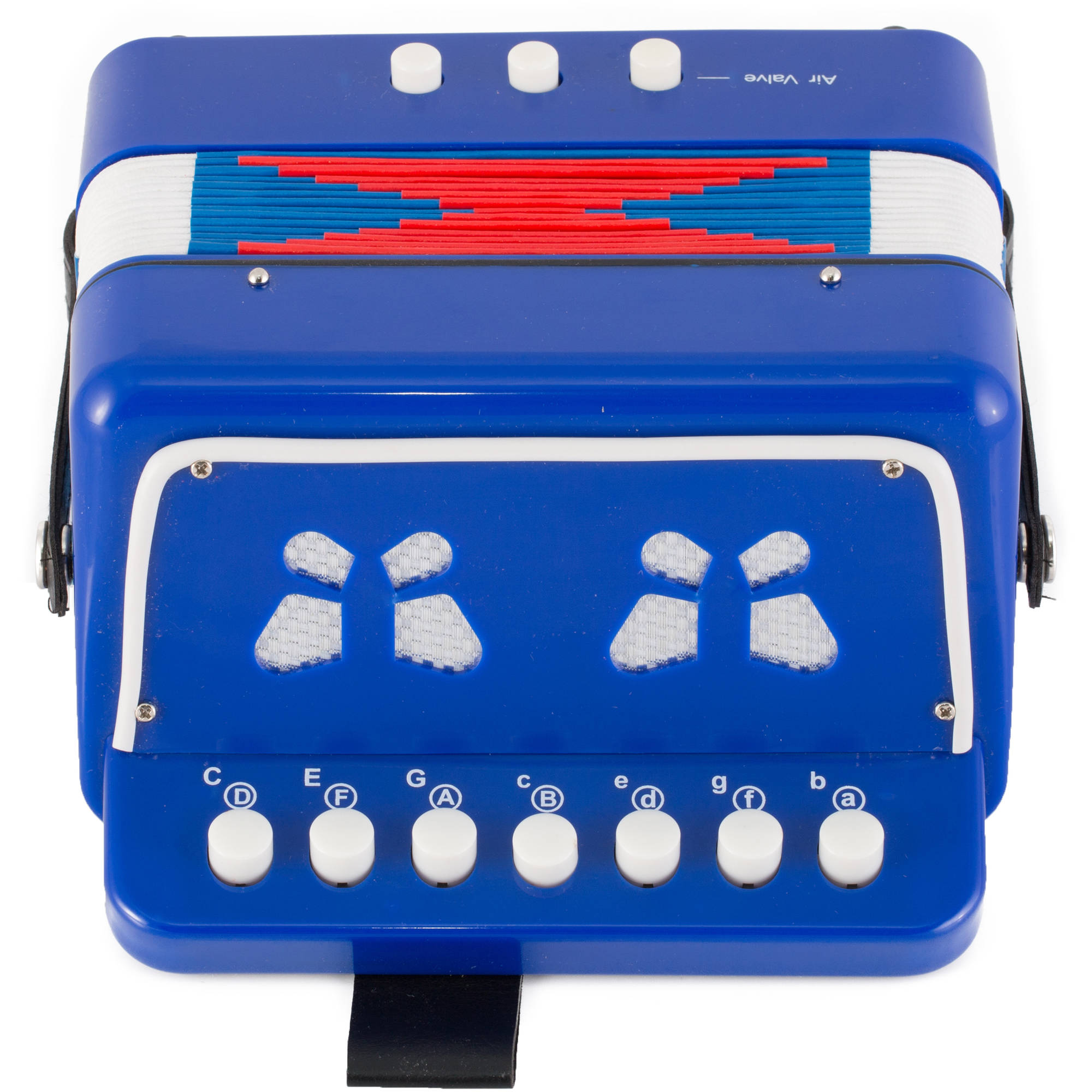Kayata 7 Keys 2 Bass Botton Accordion for Kids Children Educational Music Instrument Toy, Blue