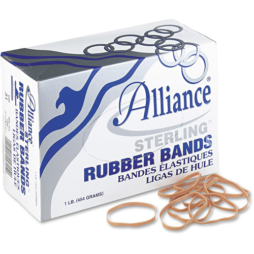 Alliance Sterling Ergonomically Correct Rubber Bands, #31, 2-1/2 x 1/8, 1200 Bands Per Box