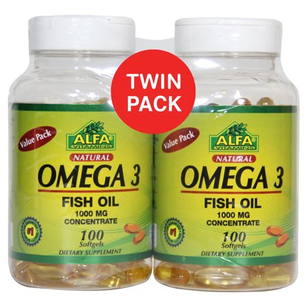 Alfa Natural Omega 3  1000Mg  100Ct  2Pk