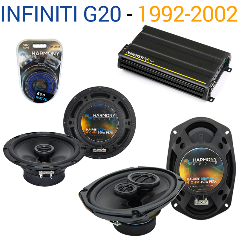 Fits Infiniti G20 1999-2002 Speaker Replacement Harmony R65 R69 & CX300.4 Amp - Factory Certified Refurbished