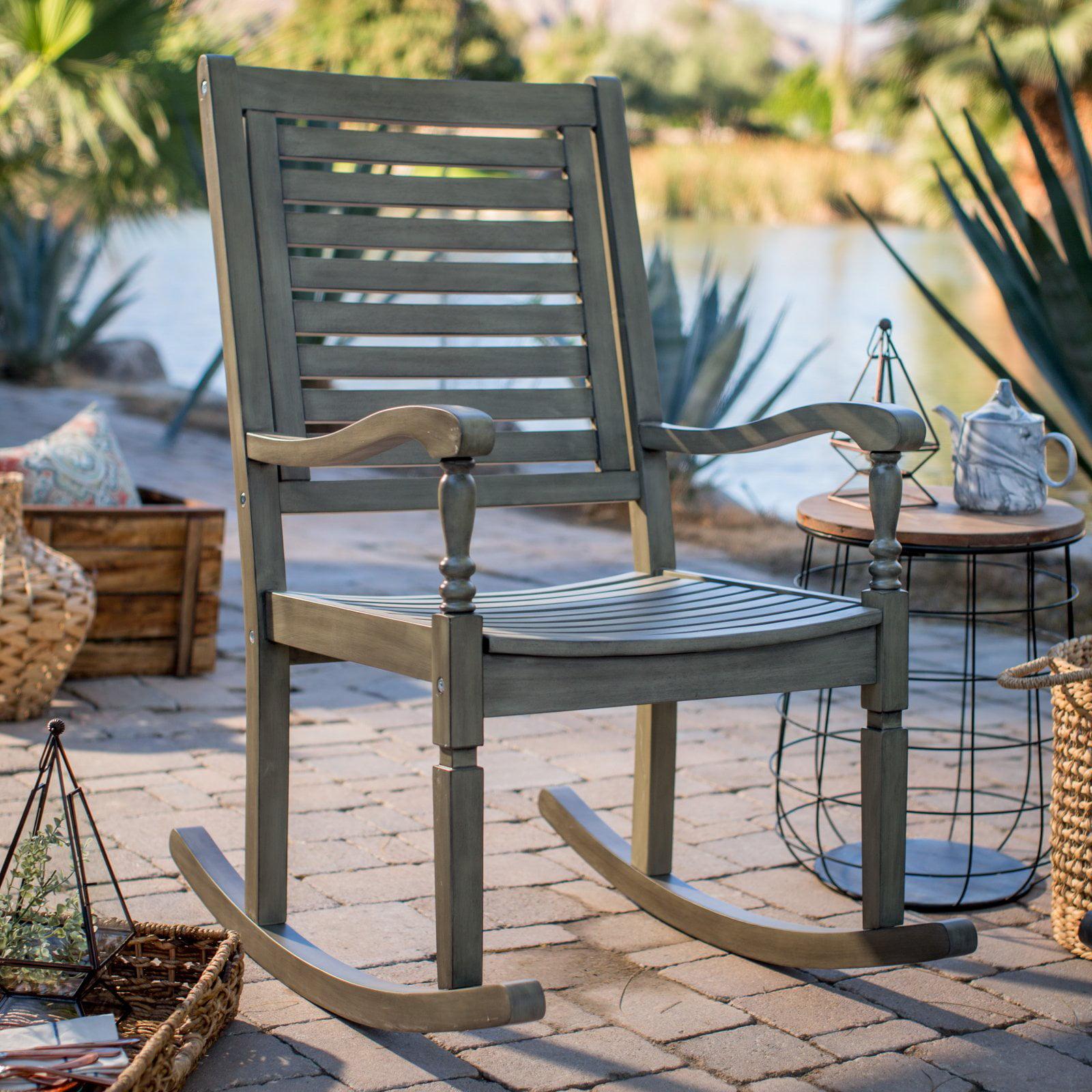 Belham Living Cottonwood Indoor/Outdoor Wood Rocking Chair - Gray