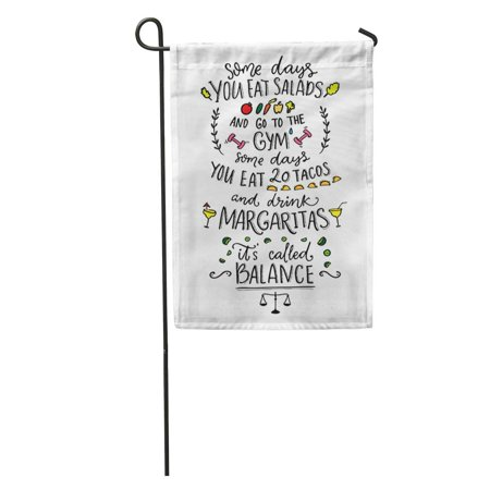 SIDONKU Some Days You Eat Salads and Go to The Gym Garden Flag Decorative Flag House Banner 12x18