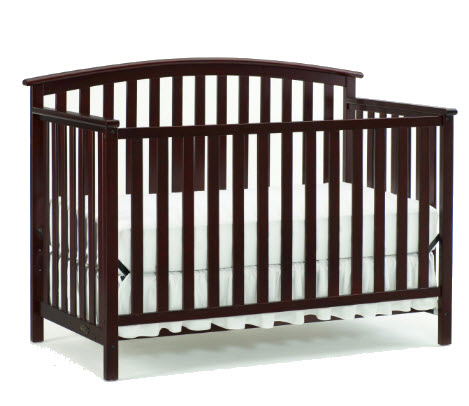 Graco Freeport 4 In 1 Convertible Crib Cherry Walmart Com