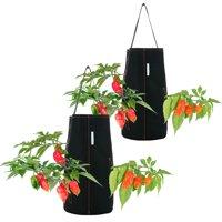 Pri Gardens Hanging Hot Pepper & Strawberry Plant Planter, 2 pack, Hooks Included