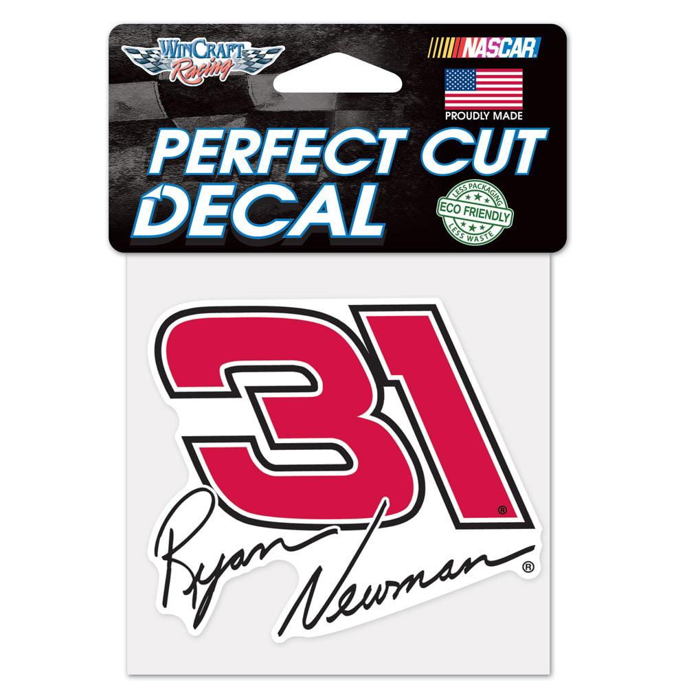Ryan Newman Official NASCAR 4 inch x 4 inch  Die Cut Car Decal by WinCraft