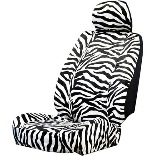Plasticolor Zebra Wild Skinz Seat Cover with Head Rest