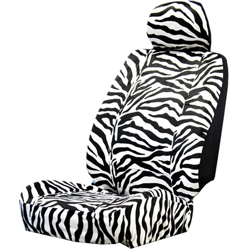 Plasticolor Zebra Wild Skinz Seat Cover with Head Rest