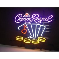 """Desung Brand New Crown Royal Poker Chips Neon Sign Handcrafted Real Glass Beer Bar Pub Man Cave Sports Neon Light 20""""x 16"""" WM06"""