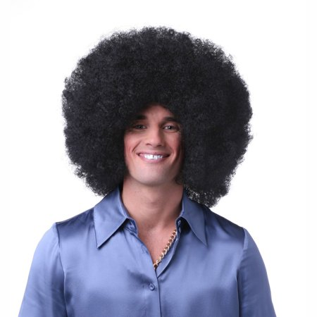 Sepia Costume Big Jumbo Afro Synthetic Wig Off Black