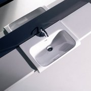 WS Bath Collections Inka Ceramic 24'' Wall Mount Bathroom Sink with Overflow