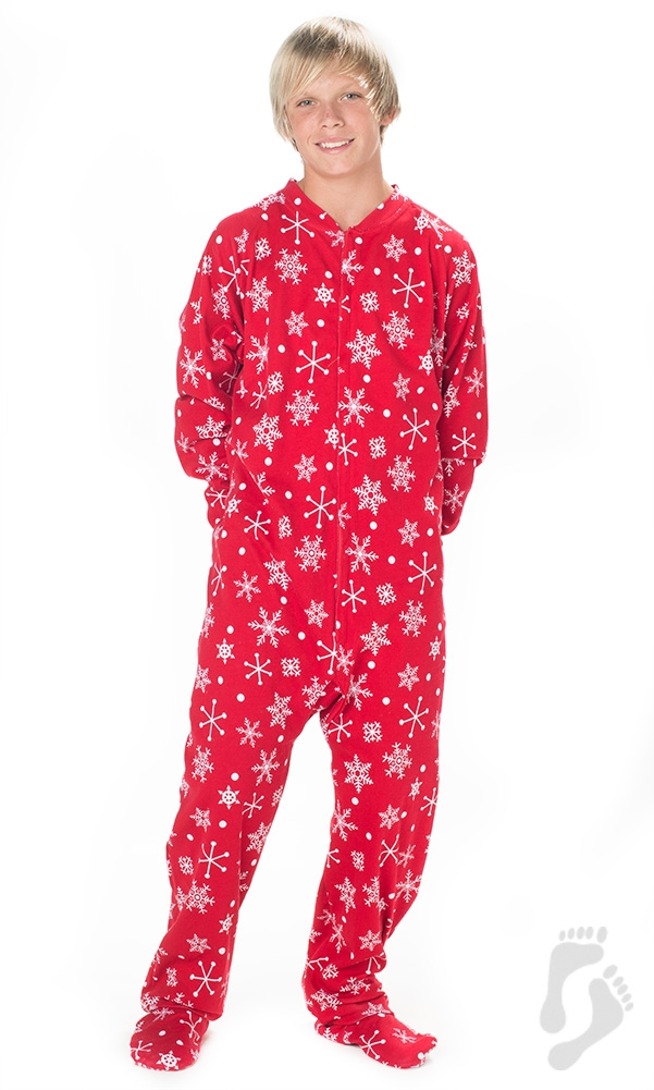 Footed Pajamas - Footed Pajamas - White Christmas Kids Cotton Onesie -  Walmart.com a5ea1a253bd1