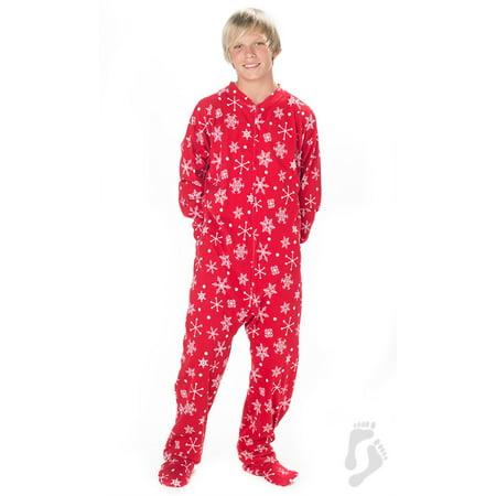 3287b36a7d Footed Pajamas - Footed Pajamas - White Christmas Kids Cotton Onesie -  Walmart.com