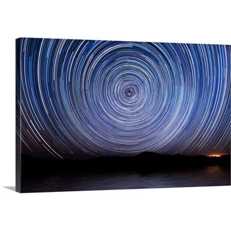 Great BIG Canvas | Scott Stulberg Premium Thick-Wrap Canvas entitled Star trails over Las Vegas - 18 And Over Halloween Las Vegas
