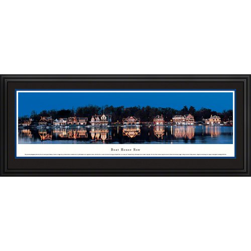 Blakeway Worldwide Panoramas, Inc Icon Boat House Row by James Blakeway Framed Photographic Print