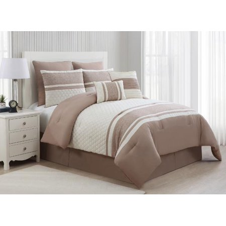 Image of Aberdeen 8pc Cmft Set king Taupe