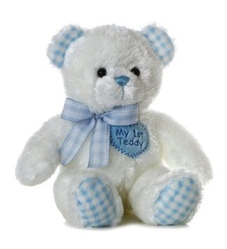Aurora 14 inch My First Teddy Bear Plush-Blue by