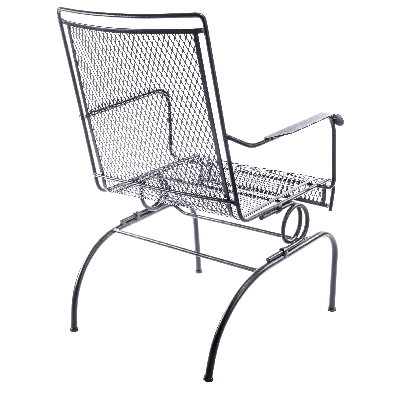 Arlington House Black Wrought Iron Outdoor Chair, Patio
