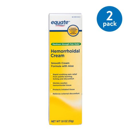 (2 Pack) Equate Maximum Strength Hemmorhoidal Pain Relief Cream, 1.8 (Best Hemorrhoid Cream Uk)