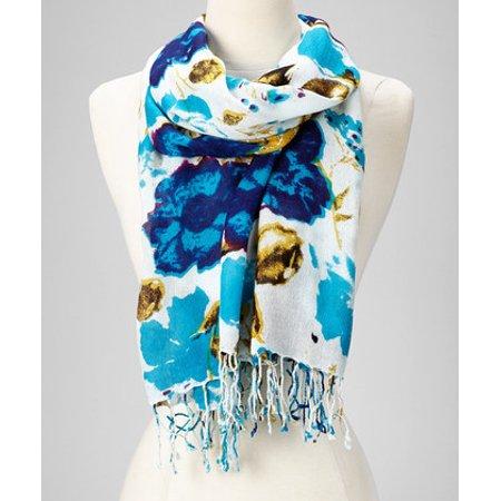 659395f13 Amtal - Amtal Fashion Floral Abstract Design Lightweight Spring Summer  Scarfs for Women - Walmart.com