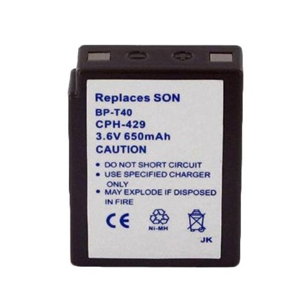 INTER-TEL BT-9000 Cordless Phone Battery Ni-MH, 3.6 Volt, 650 mAh - Ultra Hi-Capacity - Replacement for Sony BP-T40 Rechargeable Battery 650 Mah Replacement Battery