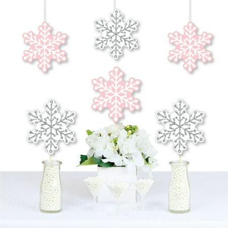 Pink Lemonade Birthday Party (Pink Winter Wonderland - Snowflake Decorations DIY Holiday Snowflake Birthday Party or Baby Shower Essentials - 20)