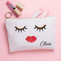 Lashes & Lips Personalized Zipper Pouch