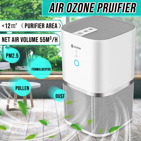 Air Purifier with True Hepa Filter, AUGIENB Air Purifiers Cleaner Active  Carbon Filter Dust Active Ozone Generator Sterilizer Control Smoke Clean
