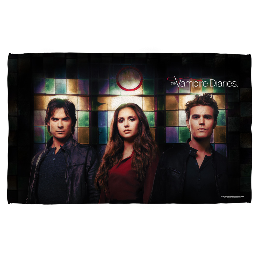 Vampire Diaries Stained Glass Beach Towel White 36X58