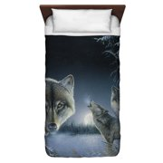 Wild Wings Midnight Wolves 2 Twin Duvet Cover White 68X88