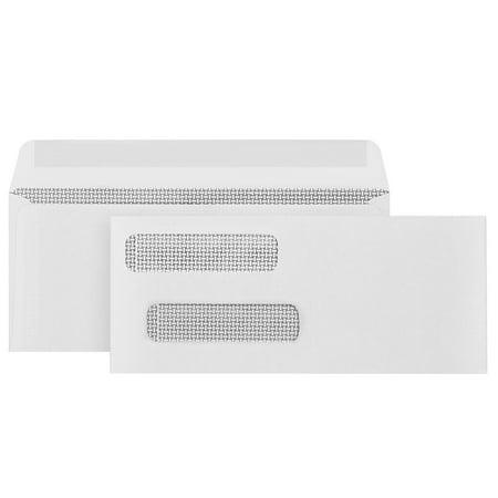 Blue Summit Supplies #8 Gummed Envelopes, Double Window, 500/box 100 Double Window Envelopes