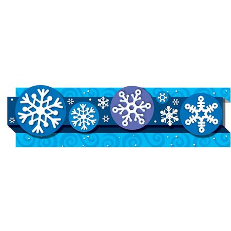 Snowflake Border (Frank Schaffer Publications/Carson Dellosa Publications Pop-its Snowflakes Classroom Border (Set of)
