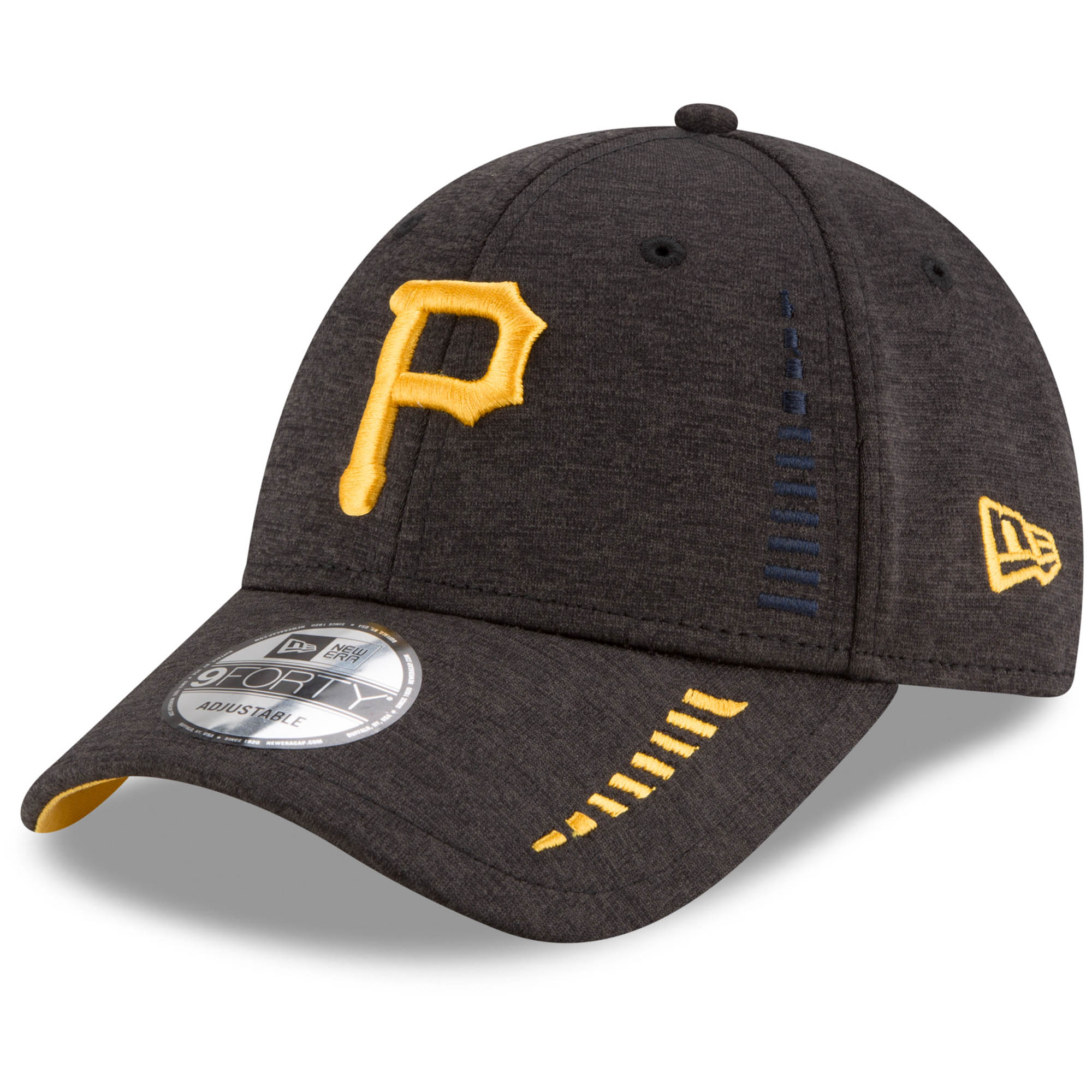 Pittsburgh Pirates New Era Speed Shadow Tech 9FORTY Adjustable Hat - Black - OSFA