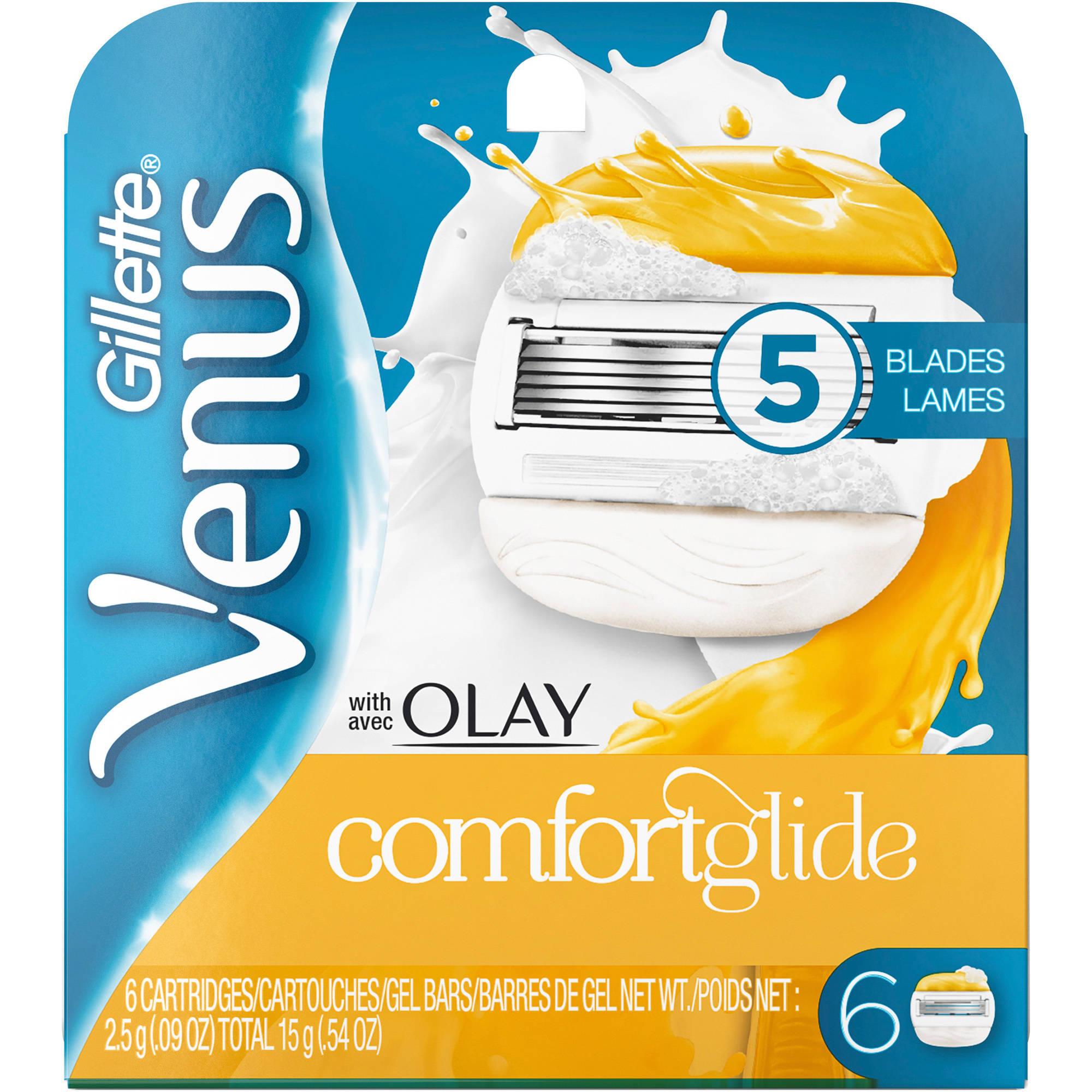 Gillette Venus & Olay Women's Razor Refills, 6 count