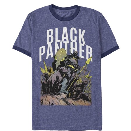 6f8ee5fd811 Marvel - Marvel Men's Black Panther Army Ringer T-Shirt - Walmart.com