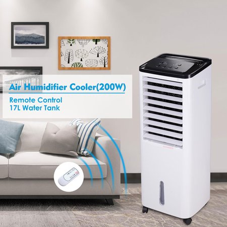 Yescom 200W Evaporative Air Conditioner Cooler Fan Humidifier w/ 650 Sq. Ft. Cooling Ice Boxes Indoor Home Office ()
