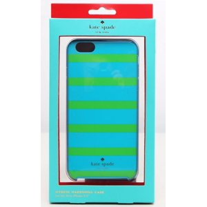 Kate Spade New York - Kinetic Stripe Hybrid Hard Shell Case for Apple iPhone 6 Plus and 6s Plus - Blue|Green