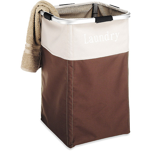 Whitmor Square Laundry Hamper, Java